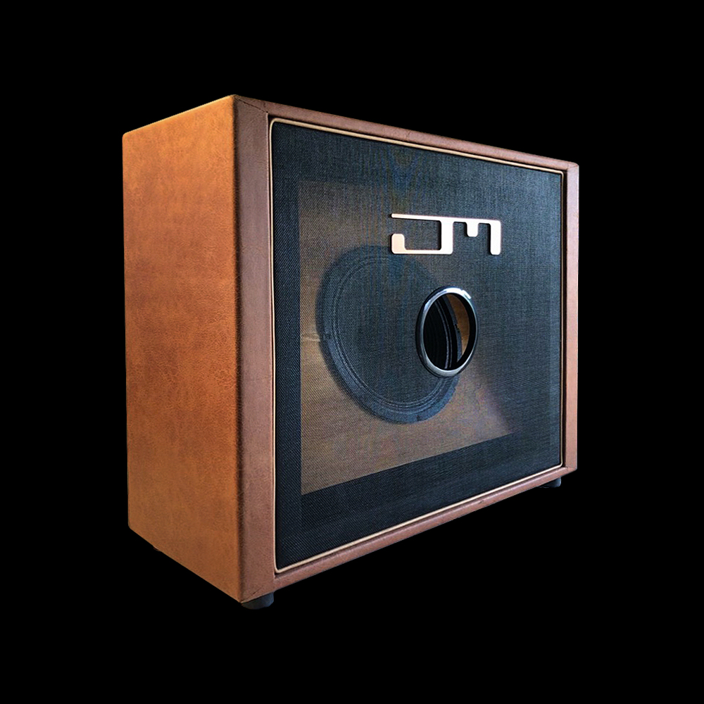 "Trunk -quarter view 112 1x12"" Celestion Vintage30 guitar cab custom shop handbuild high-end best exclusive leather ported miking-O professional musicians wide dispersion netherlands full range"